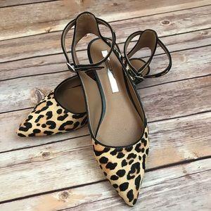 Audrey Brooke Leopard Flats sz 6.5